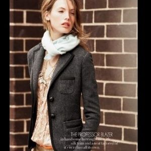 J Crew grey wool Professor button blazer jacket